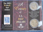 1982-1989 A Century Of U. S. Half Dollars Kennedy And Stamp Set E0047