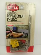 Expert Grill Digital Grilling Thermometer Replacement Probe 2 Pack New.