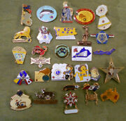 D298.  Lot Of Forty 40 World Lions Club  Badges