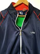 Lrg Lifted Research Group Rare Mens Large Track Jacket Full Zip Blue Green