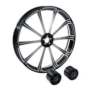 21 Cnc Front Wheel Rimandhub Dual Disc Fit For Harley Touring Street Glide 08-20