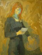 Claude Benard 1926-2016 Signed Mid 20th Century French Oil - Lady Reading