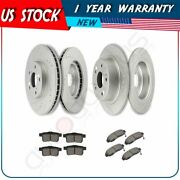 For 2011-12 Honda Accord Acura Tsx Front + Rear Brake Pads And Rotors Discs Kit