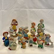 Lot Of 16 Vintage Porcelain Marked Made In Occupied Japan Figurines And Objects