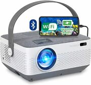 Wifi Projector Bluetooth 8400mah Battery Rechargeable Portable Home...