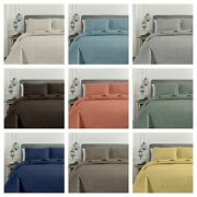 Chezmoi Collection 3-piece Oversized Bedspread Set Pinsonic Quilted Coverlet Set