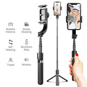 Mobile Phone Bluetooth Handheld Selfie Stick Tripod With Stabilizer 3axis Gimbal