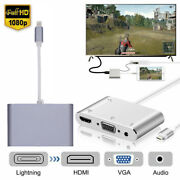 4k Hd For Iphone 12 11 Xr 7 8 6s Ipad To Hdmi Vga Av Audio Video Adapter Cable