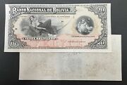 Bolivia Proof Banknote P S208. Front/ Back