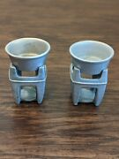 2 Bon Chef Pewter Butter Warmers Made In Usa