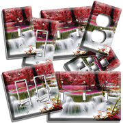 Enchanted Magenta Waterfalls Cascade Light Switch Outlet Wall Plates Room Decor