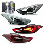 Led Headlights+red Taillights+h7 Led Bulbs For Elantra 11-16 Sedan 13-14 Coupe