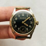 Rare Wwii Bulova 10bs Watch Military Ww2 Swiss Usa Vintage Without Back Cover