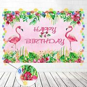 Flamingo Birthday Party Supplies Decorations Pink Backdrop With String Light