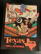 Texas Longhorns-oklahoma Sooners 1965 Chase Football Program Excellent Condition