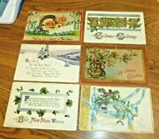 1906-1917 Antique / Vintage Christmas And New Years Postcards