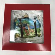 Nordstrom At Home - Hand Painted Africa Suitcase Ornament - With Box