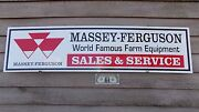Massey-ferguson Tractor/implements/equip. Dealer/service Sign/ad W/ Logo 1and039x46
