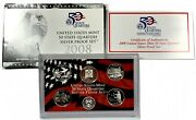 2008-s United States 5-coin Silver Statehood Quarter Proof Set