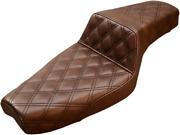 Saddlemen Brown Step Up 4.5 Gallon Motorcycle Seat For 04-09 Harley Sportster Xl