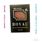 Plastic Playing Cards.100 Plastic Washable. Royal Brand. Imports From Taiwan.