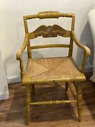 Ethan Allen Hitchcock Chair With Eagle And Gold Rush Seat