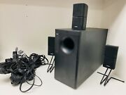 Bose Acoustimass 10 Series Ii Home Theater Speaker System W/3-double Cube Spkrs