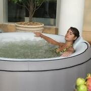 Inflatable Portable Jetted Hot Tub Spa With Coverhome Massage Warm And Ice Bat