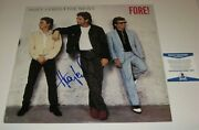 Huey Lewis Signed Fore Album Lp Cover W/ Beckett Coa