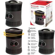 Space Heater With Surround Heat Output And Two Heat Settings 360 Degree Portable
