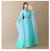 Wide Sleeves Shirt And Skirt Set Hanfu Women Chinese Ancient Traditional Costume