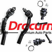 4pcs Front Outer Tie Rod End Lower Ball Joint For Nissan Armada Titan