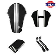Black Rear Front Flooboards Shifter Lever Pegs Brake Pedal Pad Fit For Harley