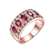 Rings For Women 18kt Yellow Gold Natural 1.5ct Emerald Ruby Sapphire Genuine Dia