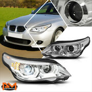 For 04-07 Bmw E60 3d Led U-halo+sequential Turn Signal Hid Projector Headlights