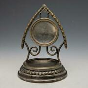 Antique Are Gnu Oh My Go. Made Of Brass Pocket Watch Holder Display Stand
