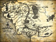 The Lord Of The Rings Middle Earth Map Wall Print Poster Us