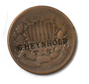 Dateless 2c Two Cent Piece Us Coin G Heynhold Counter Stamp