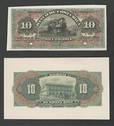 Costa Rica Proof Banknote Catalog Ps174a Front And Back