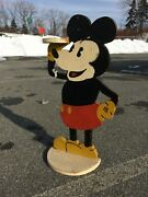 Mickey Mouse- Folk Art- Ashtray Stand - Smoking Stand- 1930s- Vintage Antique