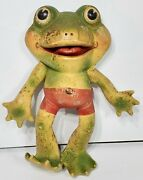 Rare 1st Version Rempel 50s Croaker Frog Peepers Froggy 11 Rubber Squeeze Toy
