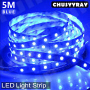 Wireless 16.4ft Boat Smd 300 Led Strip Light Flexible Ip67 Waterproof 12v Blue