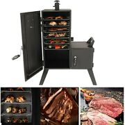 Dyna-glo Vertical Offset Charcoal Smokerporcelain-enameled Steel Chamber