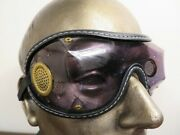Nos Vintage Sunglasses Motorcycle Roadster Goggles Aviation Sun Shield Side Vent