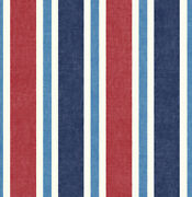 Wallpaper Striped Red Blue Beach Traditional Wallcovering 20.5 In X 396 In Bolt
