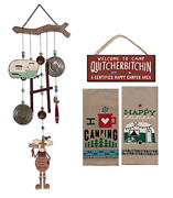 18th Street Gifts Happy Camper Decor - Wind Chime Dish Towels And Sign - Decor