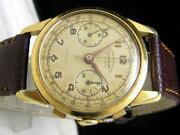 1940and039s Sultana Landeron 48 Chronograph Antique Menand039s Watch 37mm