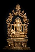The Rare Collection Of Antique Tibet Gold Plated Medicine Buddha Can Be Assembl