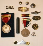 Us Wwii Medals Pins Carbine Oiler Cap Wings Badges Avg Buttons Usa Usn Usaaf Ww2