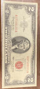 Unc 1963 2 Two Dollar Bill United States Legal Tender Red Seal Note